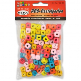 ABC-BASTELPERLEN WOOD 110 PCS
