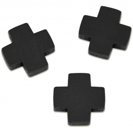 BLACK WOODEN SMALL CROSSES - 21 X 21 X 5MM - 3PCS