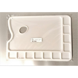 11 WELL - PLASTIC OBLONG PALETTE 34 X 24 CM