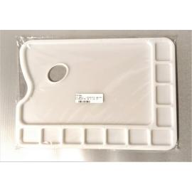 11 WELL - PLASTIC OBLONG PALETTE 34 X 24 CM