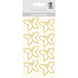 GOLD BUTTERFLIES DESIGN STICKER MOTIV 02