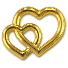 GOLD DECORATION HEARTS - 15PCS