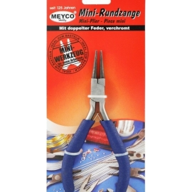 MEYCO MINI ROUND NOSE PLIERS CHROME PLATED