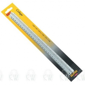 ARISTO COLLEGE TRIANGULAR REDUCTION SCALE RULER 1:20,25,33 1/3:50:75:100