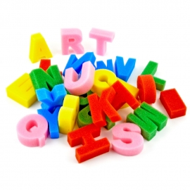 FOAM STAMP ALPHABET LETTERS