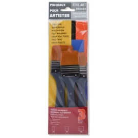 FINE ART FLAT BRUSH SET - 30MM - 40MM - 50MM