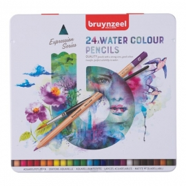 BRUYNZEEL EXPRESSION SERIES WATER COLOUR PENCILS X 24