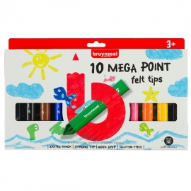 BRUYNZEEL MEGA POINT FELT TIPS X 10
