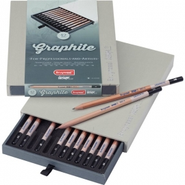 BRUYNZEEL GRAPHITE PENCIL SET X 12
