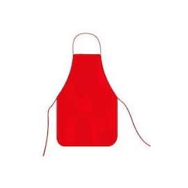WATERPROOF APRON SIZE 48 X 67CMS RED