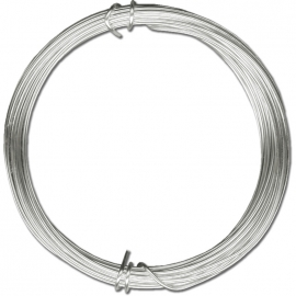 SILVER PLATED WIRE 0.6MM - 10MTRS