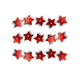 SEQUINS SMALL STAR 1400PCS - RED
