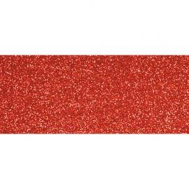 FUN FOAM 2MM WITH GLITTER - RED