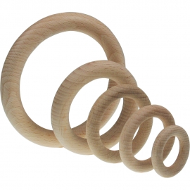 WOODEN RING 35 X 7MM - NATURAL