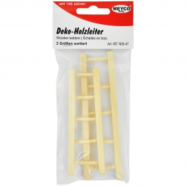 DEKO WOODEN LADDERS 2 SIZES ASSORTED.