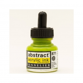 ACRYLIC INK 30ML - BRIGHT YELLOW GREEN