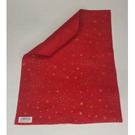 1MM FELT W/GLITTER STARS 30 X 40CM - RED