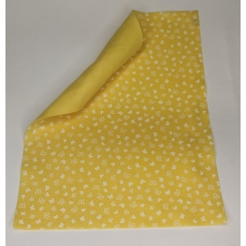 1MM FELT W/BUTTERFLIES 30 X 40CM - YELLOW/WHITE