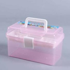 PINK PLASTIC CARRYING BOX 26 X 16.5 X 14CM