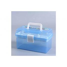 BLUE PLASTIC CARRYING BOX 26 X 16.5 X 14CM