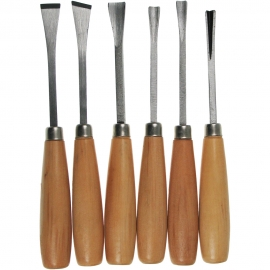 WOOD CARVING SET 6 PCS