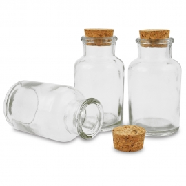 MEYCO GLASS BOTTLE WITH CORK 125ML 6CM X 10.5CM7CM