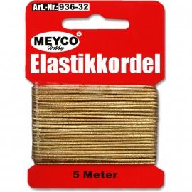 MEYCO ELASTIC CORD 1MM / 5MTR GOLD