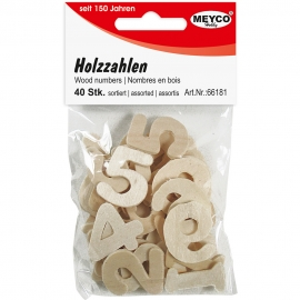 MEYCO WOODEN NUMBERS 25MM