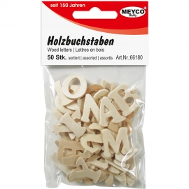 MEYCO WOODEN LETTERS 50PCS 20MM