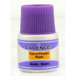 CADENCE GLASS AND CERAMIC METALLIC PAINT 45ML - SILVER