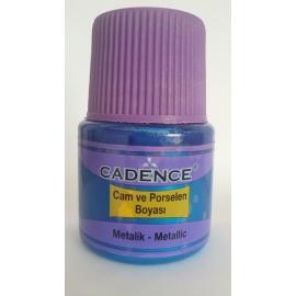 CADENCE GLASS AND CERAMIC METALLIC PAINT 45ML - DARK PINK