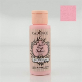 CADENCE STYLE MATT FABRIC PAINT 59ML - BABY PINK