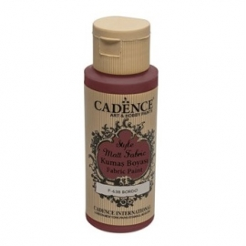 CADENCE STYLE MATT FABRIC PAINT 59ML - BORDEAUX