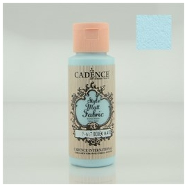 CADENCE STYLE MATT FABRIC PAINT 59ML - BABY BLUE