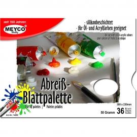 MEYCO PAPER PALETTE 36 SHEETS 50G, 30 X 23CM