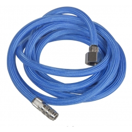 BRAIDED AIRBRUSH HOSE 2MTR QUICK COUPLING 1/4``
