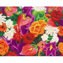FLOWERS 40 X 50CM DIAMOND PAINTING KIT