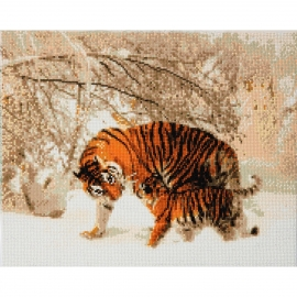 WINTER TIGERS 40 X 50CM DIAMOND PAINTING KIT