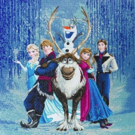 FROZEN FRIENDS 70 X 70CM DIAMOND PAINTING KIT