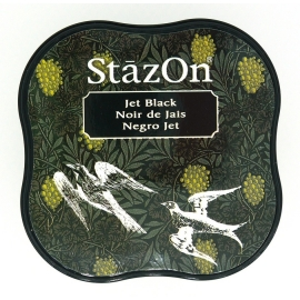 "STAZON INK PADS MIDI ""JET BLACK"""""