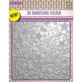 3D EMBOSSING FOLDER - FLOWERS 3