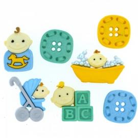 Dress It Up Buttons - Baby Fun - Boy