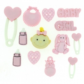 Dress It Up Buttons - Baby Girl
