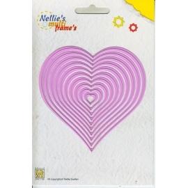 Nellie's - Multi Frame Dies - Straight Heart