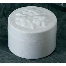 Polystyrene Round Box w/Flowers