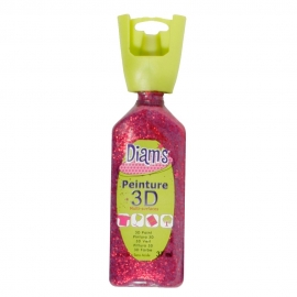 DIAMS 3D - GLITTER - ROUGE