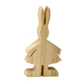 Wooden Rabbit Girl - 12cm
