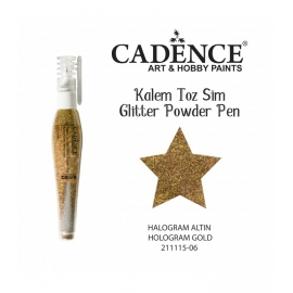 GLITTER POWDER PEN 10GRM - HOLOGRAM GOLD