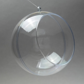 CLEAR PERSPEX BALL FOR FLOWERS - 120MM
