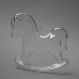 CLEAR PERSPEX ROCKING HORSE - 90MM